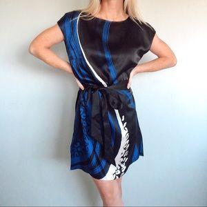 Elie Tahari Silk Pattern Shift Tunic Dress